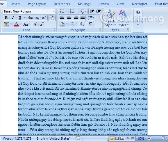 Những Cách sao chép 1 trang tài liệu trong Word