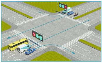 Trong hình dưới đây, xe nào chấp hành đúng quy tắc giao thông?