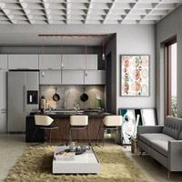 Những mẫu thiết kế phòng khách thông phòng ăn đẹp, hiện đại và khoa học