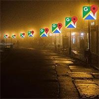 Google Maps có thể có tính năng hiển thị đường có đèn chiếu sáng vào ban đêm