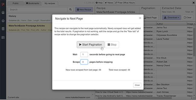 """Sử dụng nút """"Next Page"""""""