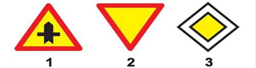 Biển nào báo hiệu, chỉ dẫn xe đi trên đường này được quyền ưu tiên qua nơi giao nhau?