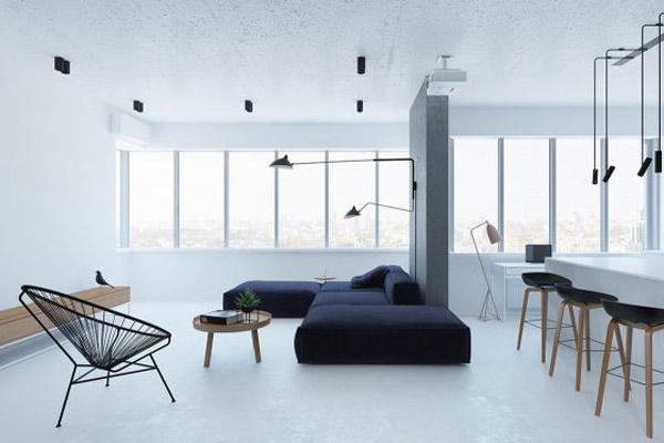 Phòng khách chung cư theo phong cách tối giản 10
