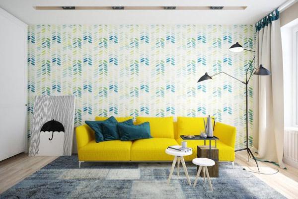 Phòng khách chung cư theo phong cách tối giản