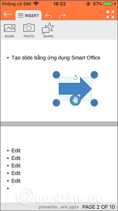 Kẻ shape trong slide