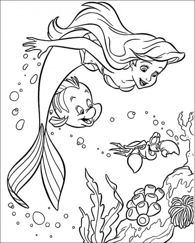 Tranh tô màu nàng tiên cá