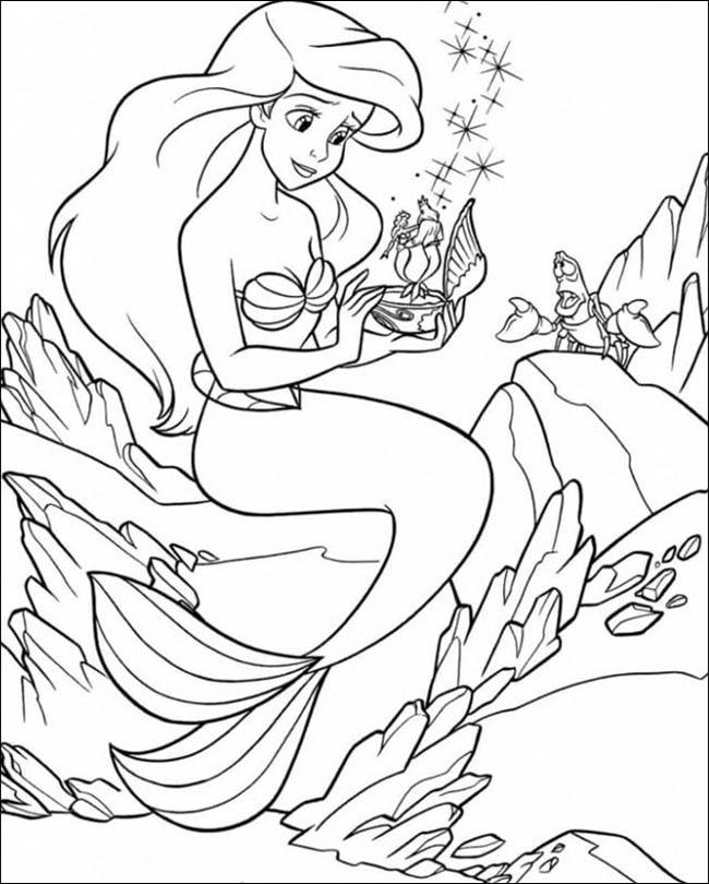 Tranh vẽ nàng tiên cá