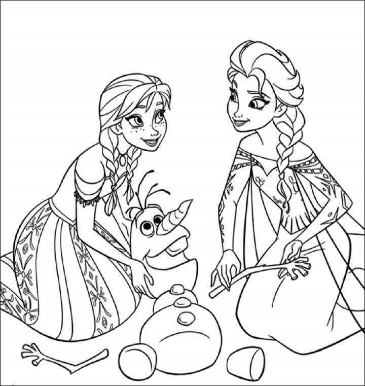 Tranh tô màu Elsa