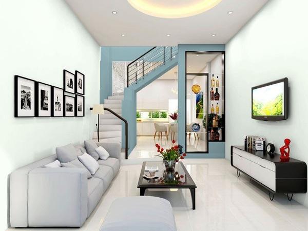 Phòng khách có cầu thang đẹp 1