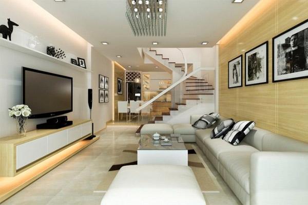 Phòng khách có cầu thang đẹp 15