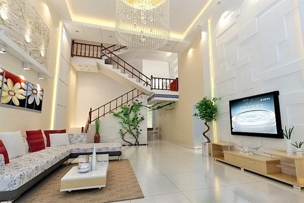 Phòng khách có cầu thang đẹp 16