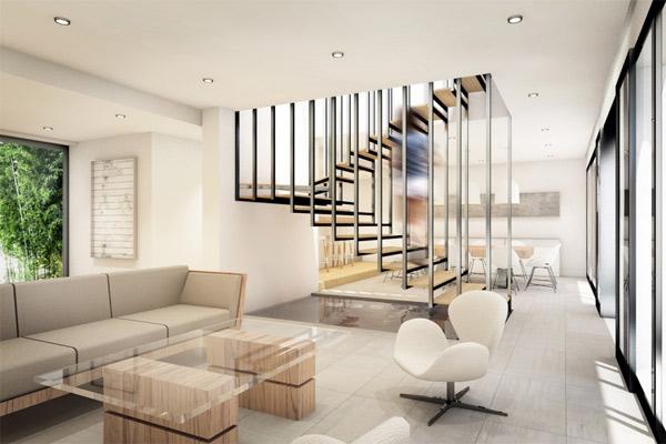 Phòng khách có cầu thang đẹp 18