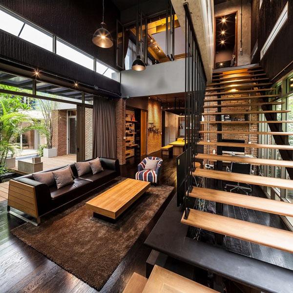 Phòng khách có cầu thang đẹp 22
