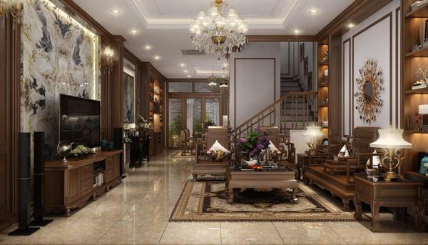 Phòng khách có cầu thang đẹp 4