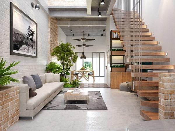 Phòng khách có cầu thang đẹp 5