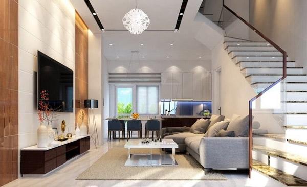 Phòng khách có cầu thang đẹp 6