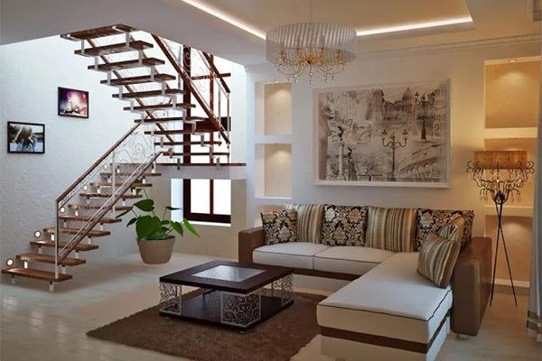 Phòng khách có cầu thang đẹp 8