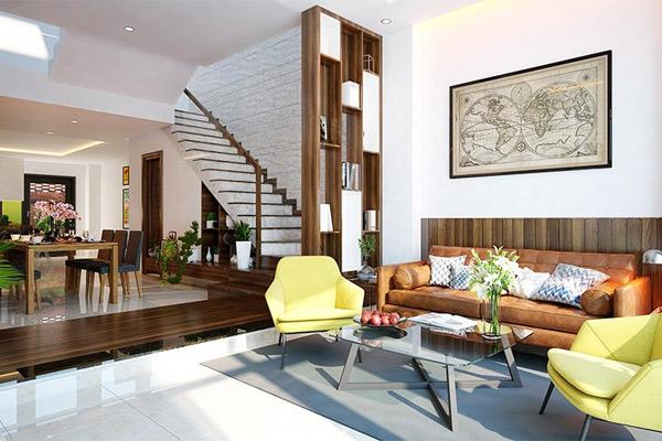 Phòng khách có cầu thang đẹp 12
