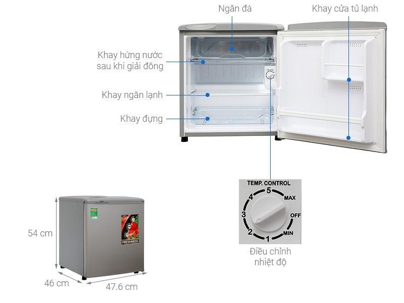 Tủ lạnh mini Aqua 50 lít