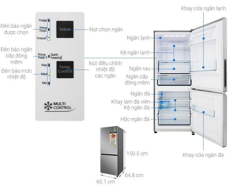Tủ lạnh 2 cánh Panasonic 234 lít
