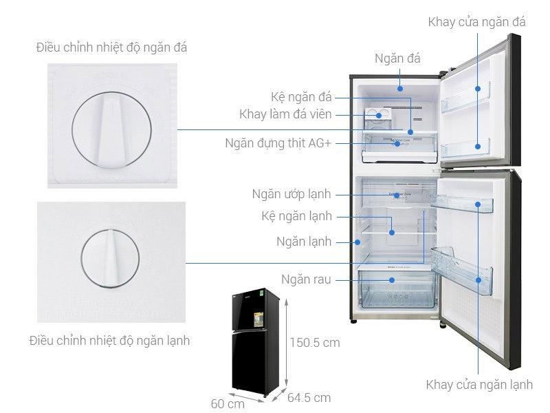 Tủ lạnh 2 cánh Panasonic 268 lít
