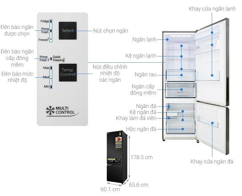 Tủ lạnh 2 cánh Panasonic 322 lít