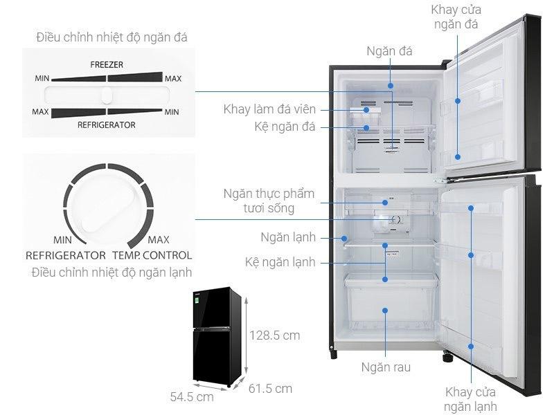 Tủ lạnh 2 cánh Toshiba 180 lít