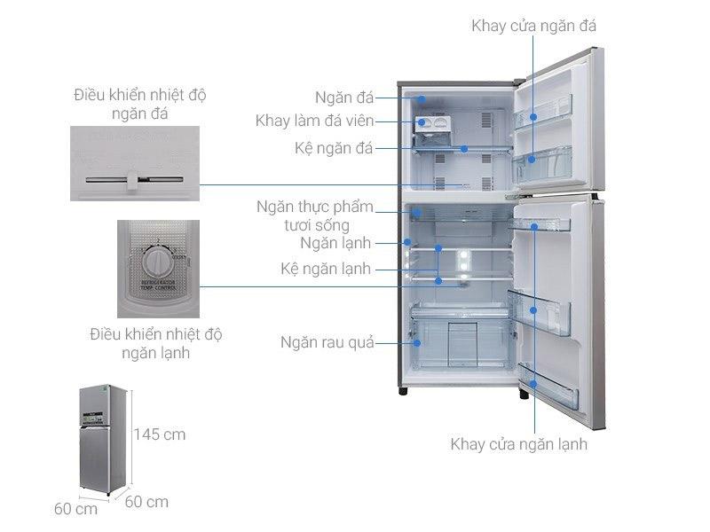 Tủ lạnh 2 cánh Toshiba 234 lít