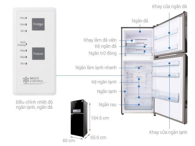 Tủ lạnh 2 cánh Toshiba 326 lít