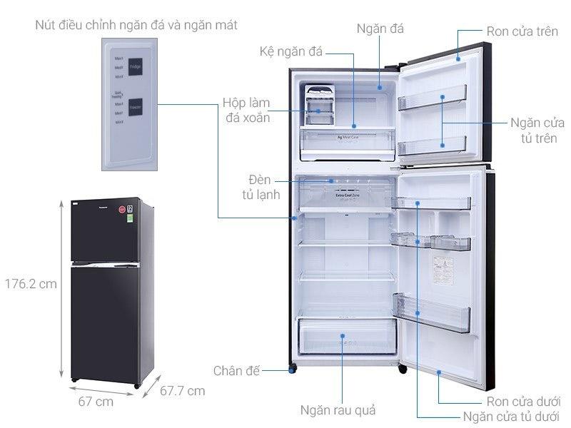 Tủ lạnh 2 cánh Toshiba 405 lít