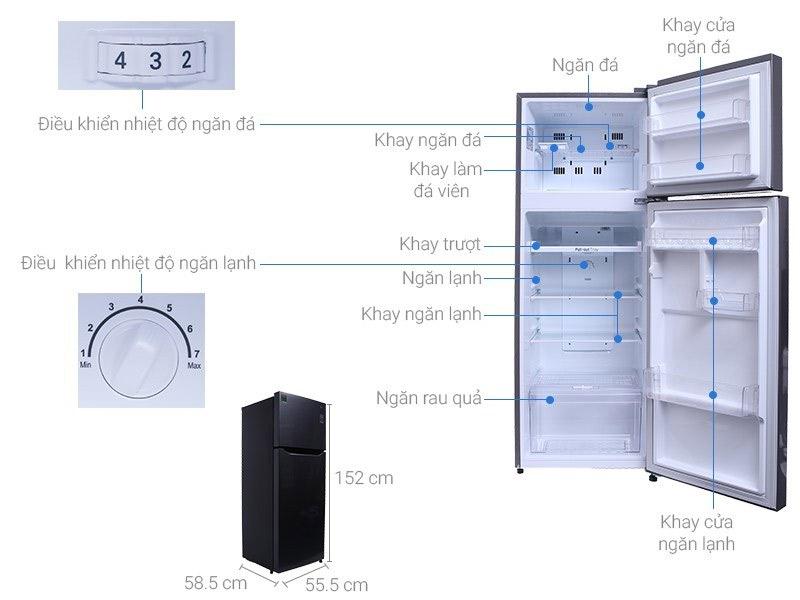 Tủ lạnh 2 cánh LG 209 lít