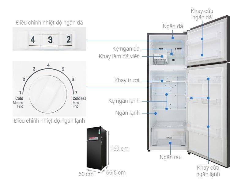 Tủ lạnh 2 cánh LG 315 lít