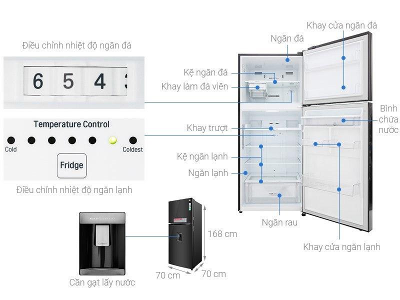 Tủ lạnh 2 cánh LG 393 lít