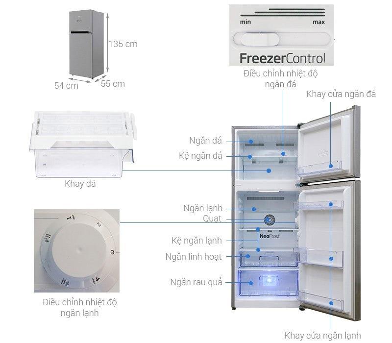 Tủ lạnh 2 cánh Beko 188 lít