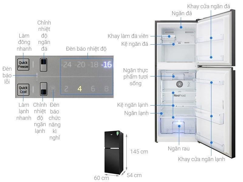 Tủ lạnh 2 cánh Beko 210 lít