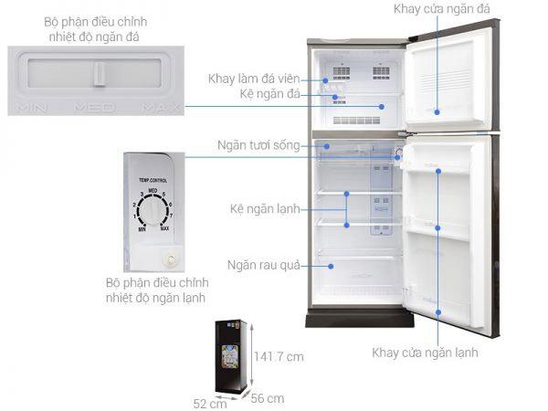 Tủ lạnh 2 cánh Aqua 186 lít