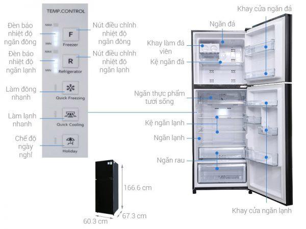 Tủ lạnh 2 cánh Aqua 318 lít