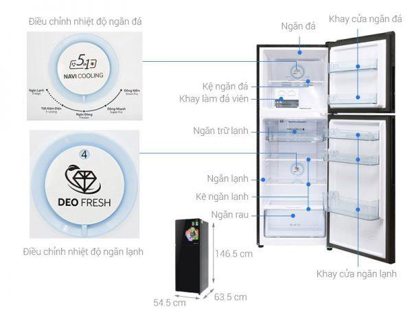 Tủ lạnh 2 cánh Aqua 235 lít