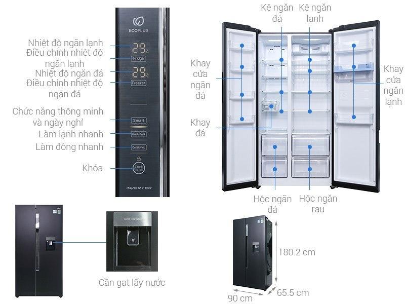 Tủ lạnh Aqua 510 lít