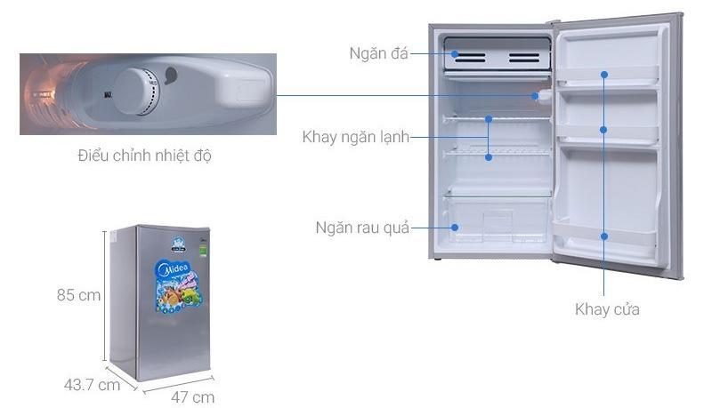Tủ lạnh mini media 93 lít