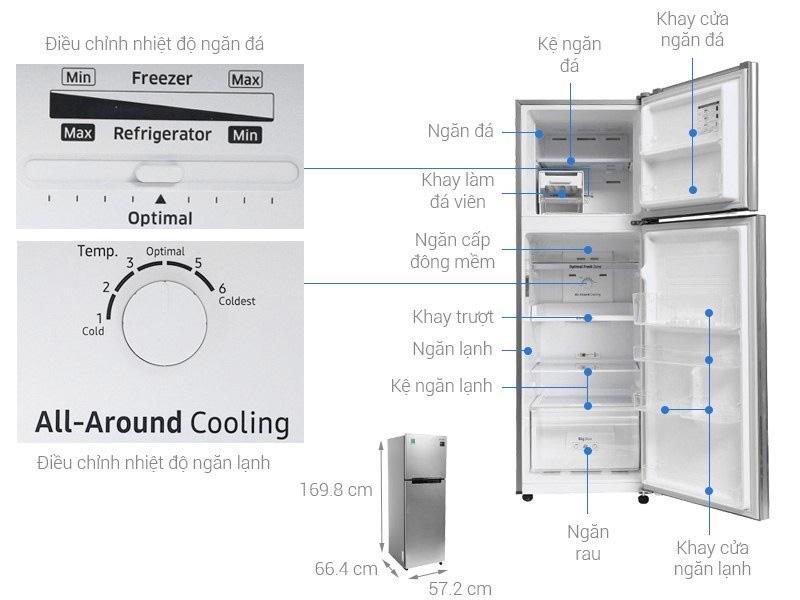 Tủ lạnh Samsung 256 lít