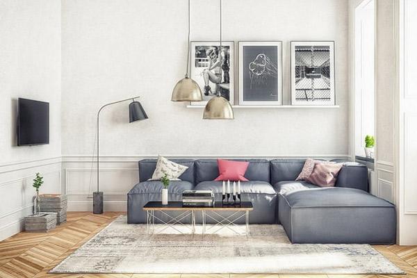 Mẫu thiết kế phòng khách nhỏ đẹp 22