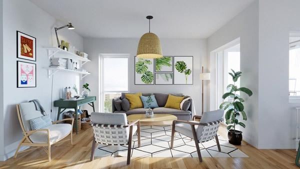 Mẫu thiết kế phòng khách nhỏ đẹp 6