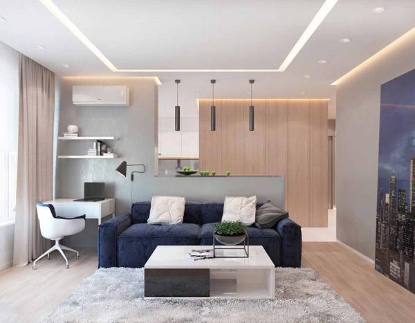 Mẫu thiết kế phòng khách nhỏ đẹp 7