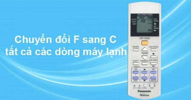 Chuyển độ F sang C tất cả các dòng máy lạnh