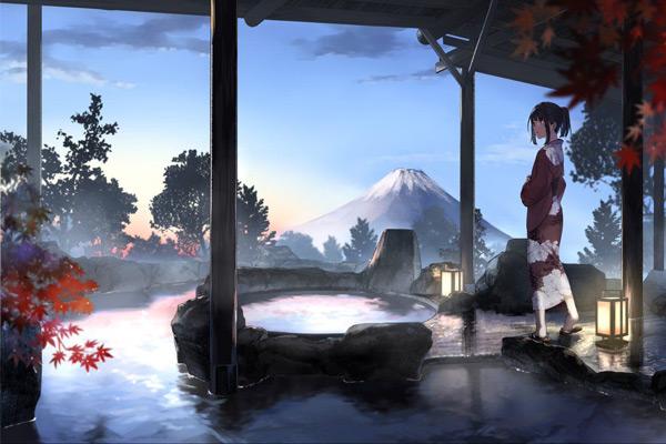 Vẽ cảnh vật kết hợp với nhân vật Anime