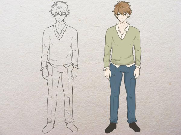 Vẽ thân người của nhân vật Anime