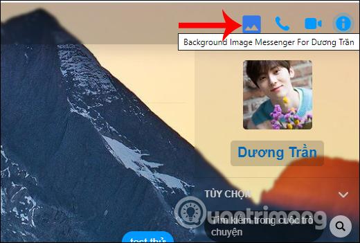 Cài hình nền Messenger PC