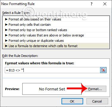 Cách tự động tạo viền ô có giá trị trong Excel - Ảnh minh hoạ 2