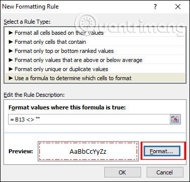 Cách tự động tạo viền ô có giá trị trong Excel - Ảnh minh hoạ 4